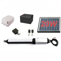 Residential/Commercial 20W Solar Single Swing Gate Opener
