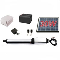 Residential/Commercial 30W Solar Single Swing Gate Opener