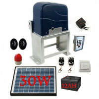Complete 2HP Gate Opening Kit w/ 30W Solar & Charger Controller
