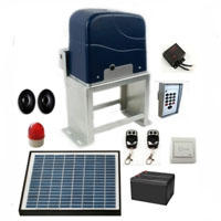 Complete 3/4 HP Solar Powered Gate Opener with Accessories