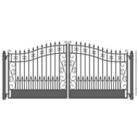 Venice Dual Swing Iron Driveway Gate 14' x 6 1/4'