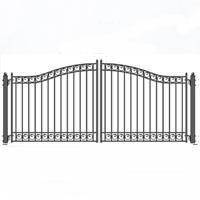 """Dublin Dual Swing Iron Driveway Gate 12' x 6'3"""""""