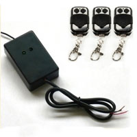 Universal Driveway Gate & Garage Door Opener External Receiver w/ Three Remotes