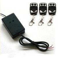Universal Driveway Gate & Garage Door Opener External Receiver w/ Three Remotes