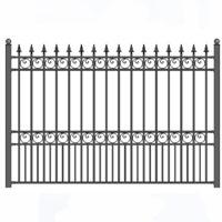 London Style Iron Driveway Fence 8' x 5'