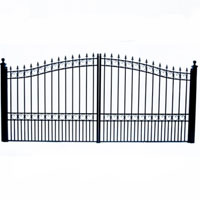London Dual Swing Iron Driveway Gate 16' x 6'3""