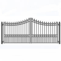 """Brand New Moscow Iron Dual Swing Driveway Gate 14' x 6'3"""""""