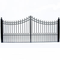 Moscow Dual Swing Iron Driveway Gate 16' x 6'3""
