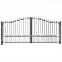 """Munich Dual Swing Iron Driveway Gate 12' x 6'3"""""""