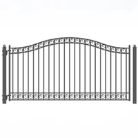 Brand New Dublin Style Single Iron Driveway Gate 14' X 6 1/4'