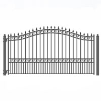 Brand New London Style Single Iron Driveway Gate 14' X 6 1/4'