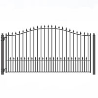 Brand New Munich Style Single Iron Driveway Gate 14' X 6 1/4'