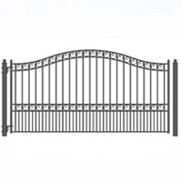 Brand New Paris Style Single Sing Iron Driveway Gate 12' X 6'