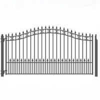 Brand New St. Petersburg Style Single Iron Driveway Gate 12' X 6'