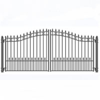 "Odessa Dual Swing Iron Driveway Gate 12' x 6'3"""