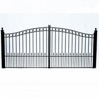 "Paris Dual Swing Iron Driveway Gate 12' x 6'3"""