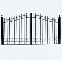 "St. Petersburg Dual Swing Iron Driveway Gate 12' x 6'3"""