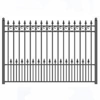 Prague Style Iron Driveway Fence 8' x 5'