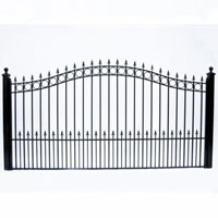 Prague Single Swing/Slide Iron Driveway Gate 12' X 6-1/4'