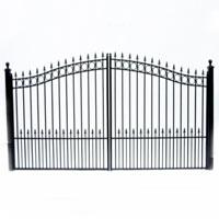 "Prague Dual Swing Iron Driveway Gate 14' x 6'3"""
