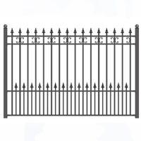 St. Petersburg Style Iron Driveway Fence 8' x 5'
