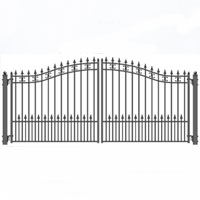 Brand New St. Petersburg Iron Dual Swing Driveway Gate 18' x 6'3'""