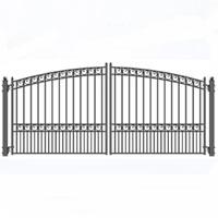 "Versailles Dual Swing Iron Driveway Gate 16' x 6'3"""