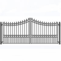 "Vienna Dual Swing Iron Driveway Gate 12' x 6'3"""