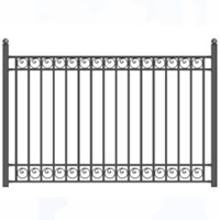 Dublin Style Iron Driveway Fence 8' x 5'