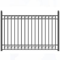 Dublin Style Iron Driveway Fence 8' x 5'