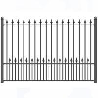 Munich Style Iron Driveway Fence 8' x 5'