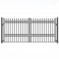 Oslo Style Swing Dual Steel Driveway Gates 14' X 6 1/4'