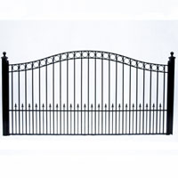 Paris Style Single Swing/Slide Iron Driveway Gate 12' X 6'