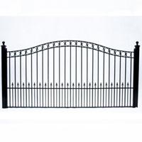 Paris Style Single Swing/Slide Iron Driveway Gate 12' X 6'