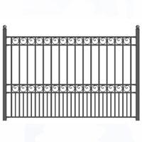 Paris Style Iron Driveway Fence 8' x 5'