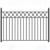 Stockholm Style Iron Driveway Fence 8' x 5'
