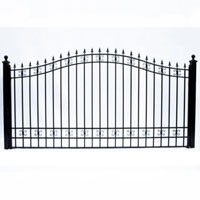 St.Petersburg Single Swing/Slide Iron Driveway Gate 12' X 6'