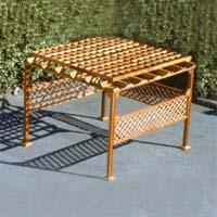 Brand New Outdoor Trellis Roof Hot Tub Enclosure Gazebo - 7.5' x 7.5'