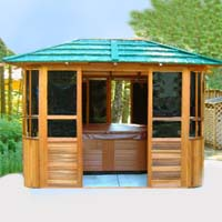 New York Hot Tub Enclosure Gazebo - 10' x 12'