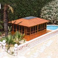 New York Hot Tub Enclosure Gazebo - 12' x 16'