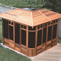 Supreme Zen Hot Tub Gazebo - 10' x 10'