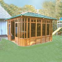 Supreme Zen Hot Tub Enclosure Gazebo - 12' x 12'