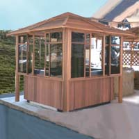Supreme Himalayan Hot Tub Gazebo 7.6 x 7.6