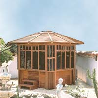 Supreme Castle Peak Hot Tub Gazebo - 8.8' x 8.8'