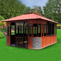 Countryside Hot Tub Enclosure Gazebo - 12.8' x 16.8'
