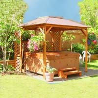 Supreme Aztec Hot Tub Gazebo 8.5 x 8.5