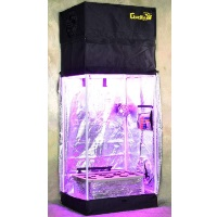 Turn-Key Indoor Grow Tent 2.5' wide x 2' deep & Adjustable up to 8' tall