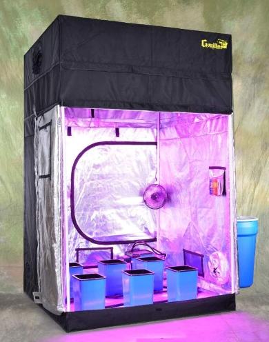 Turn-Key Indoor Grow Tent 5u0027 wide x 5u0027 deep and adjustable up to 8u0027 tall & Key Indoor Grow Tent 5u0027 wide x 5u0027 deep and adjustable up to 8u0027 tall