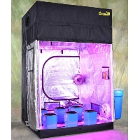 Turn-Key Indoor Grow Tent 5' wide x 5' deep and adjustable up to 8' tall