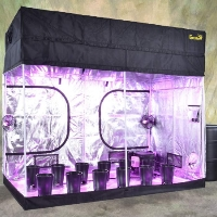 Turn-Key Indoor Grow Tent 9' wide x 5' deep and adjustable up to 8' tall
